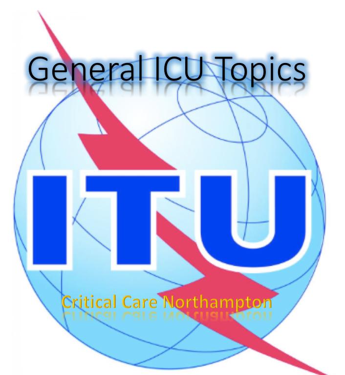 General ICU Topics – Critical Care Northampton