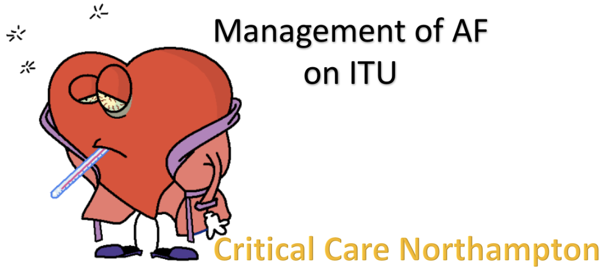 Management of AF on ITU #FOAMed #FOAMcc
